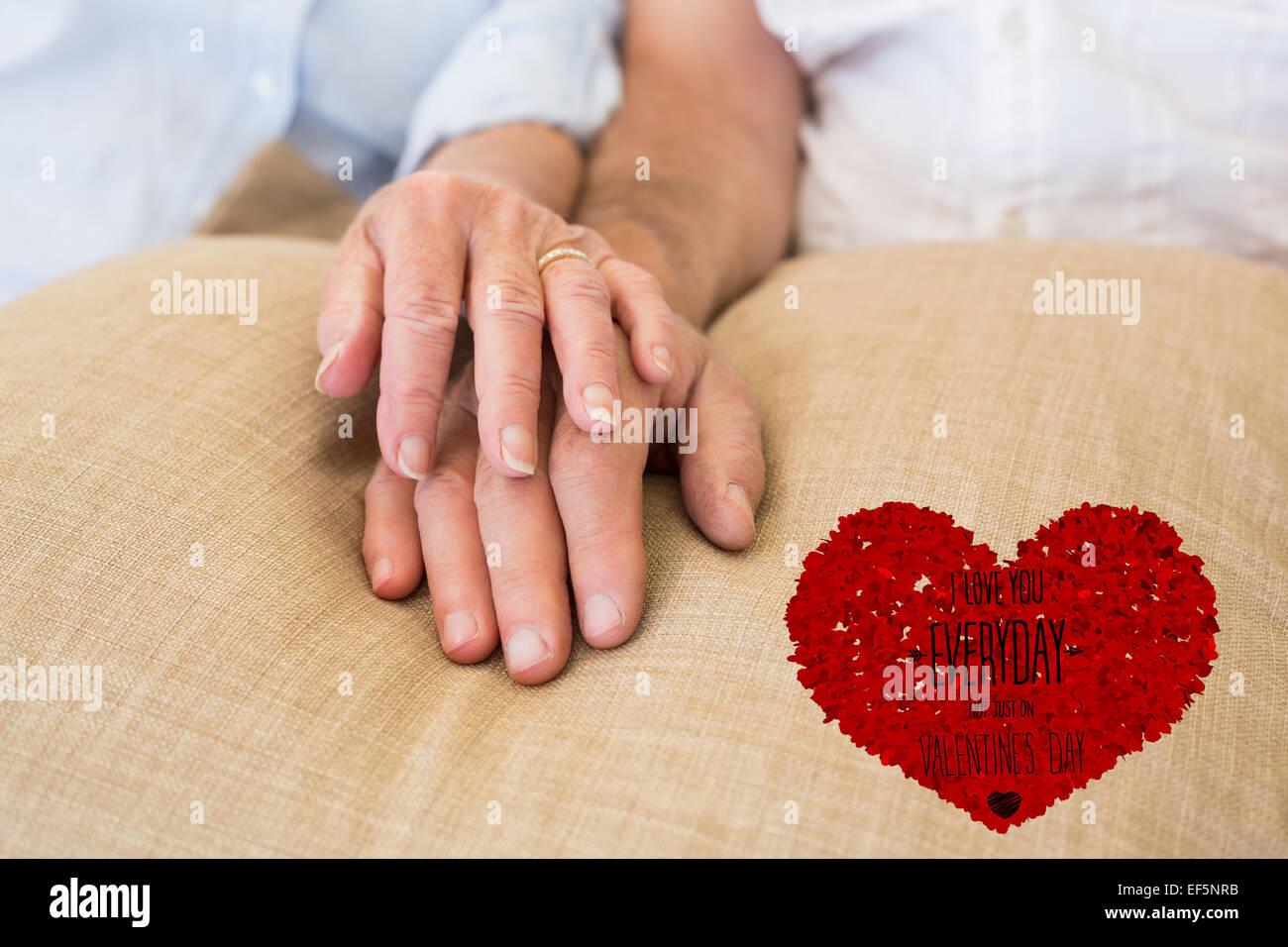 Immagine composita di vi amo tutti i giorni Immagini Stock