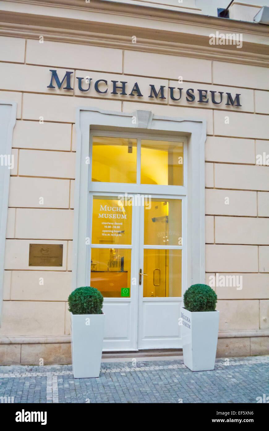 Mucha Museum, la città nuova di Praga, Repubblica Ceca, Europa Immagini Stock