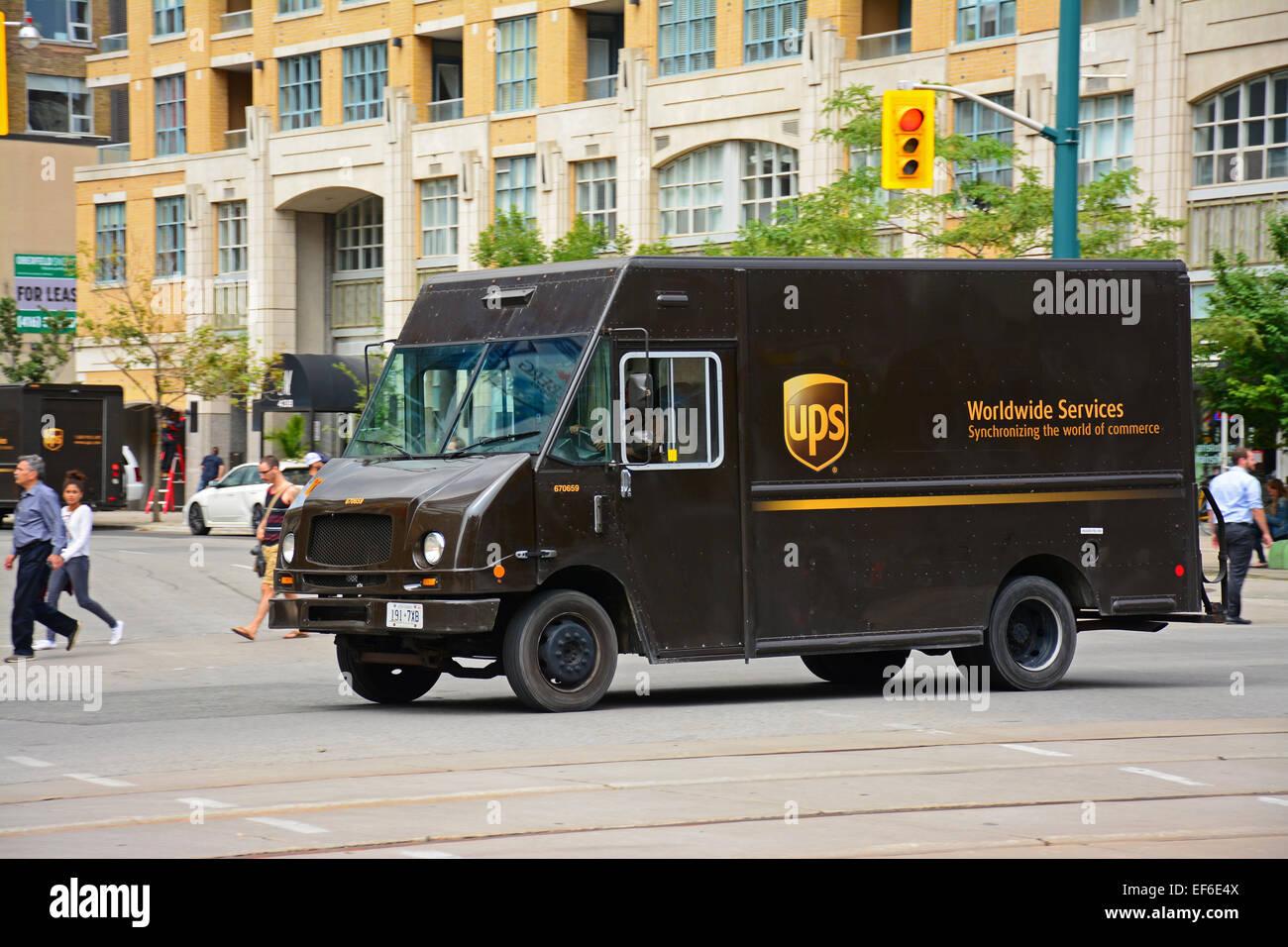 Camion dell'UPS Immagini Stock