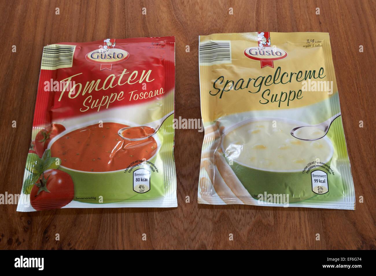 Le Gusto zuppe di pacchetto Immagini Stock