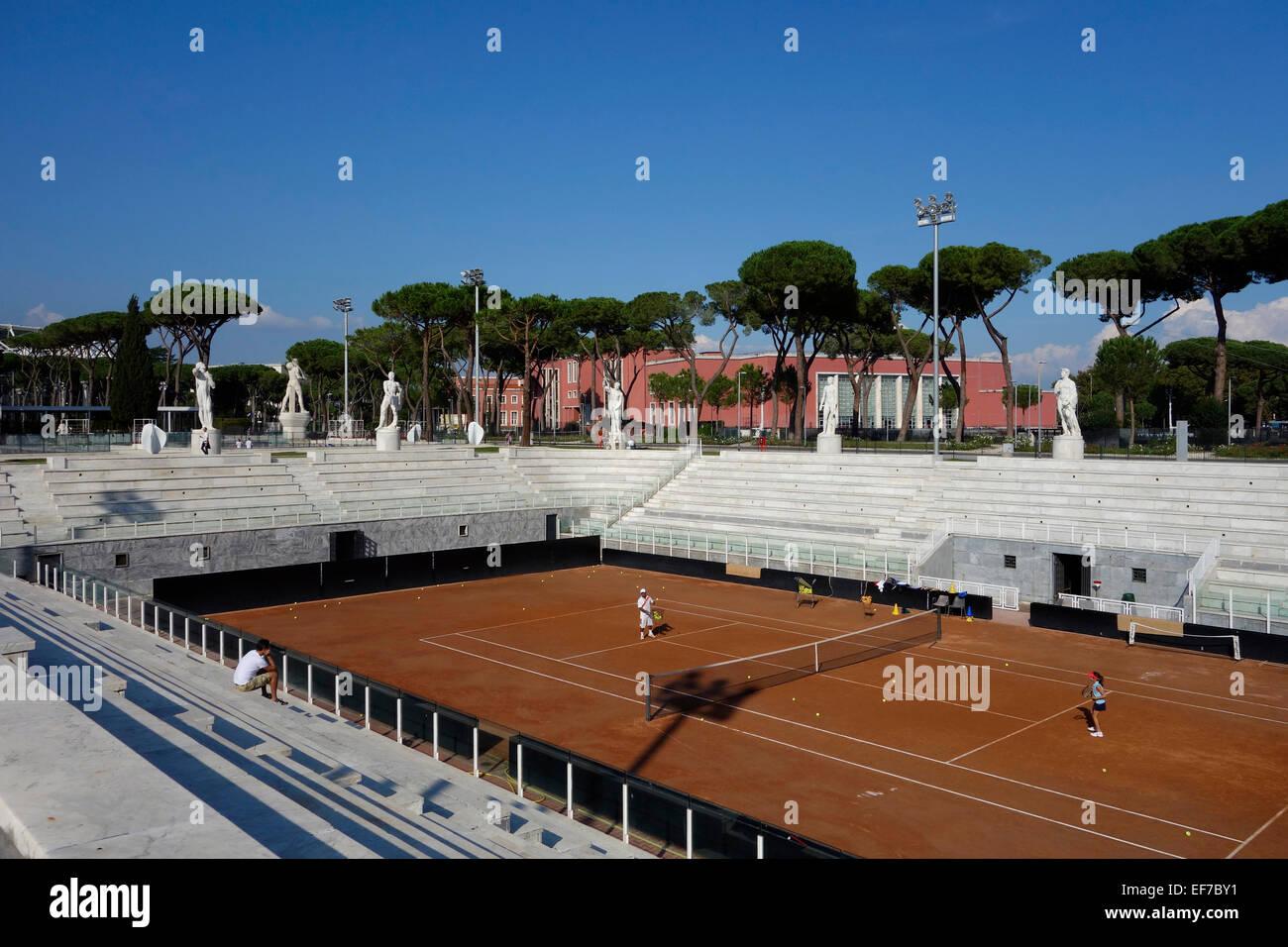 Campi Da Tennis Roma.Campi Da Tennis Stadio Dei Marmi Al Foro Italico A Roma Italia Foto