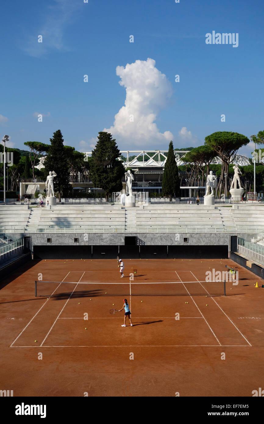 Campi Da Tennis Roma.Campi Da Tennis Al Foro Italico A Roma Italia Foto Immagine Stock