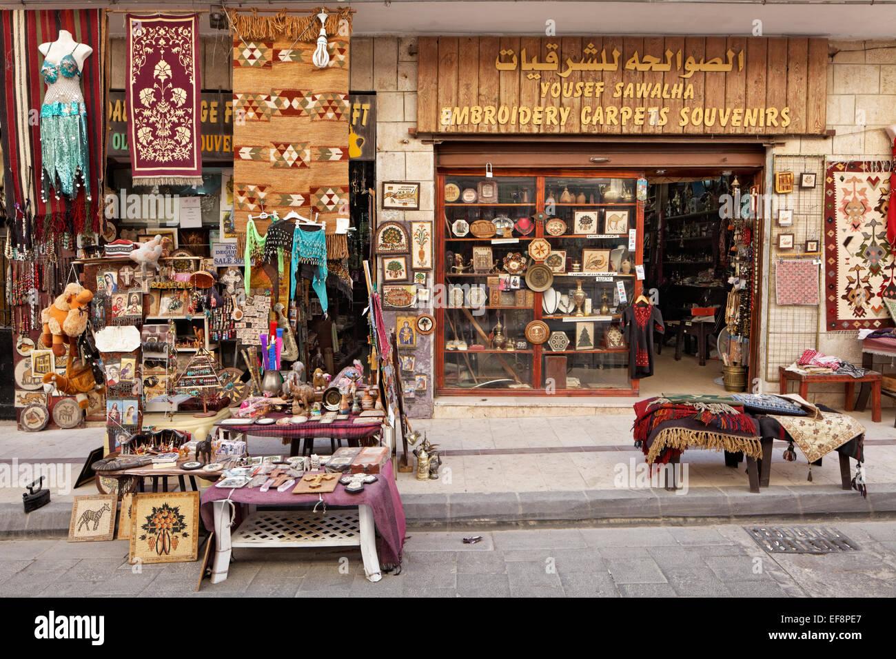Negozio di souvenir, Madaba, Giordania Immagini Stock