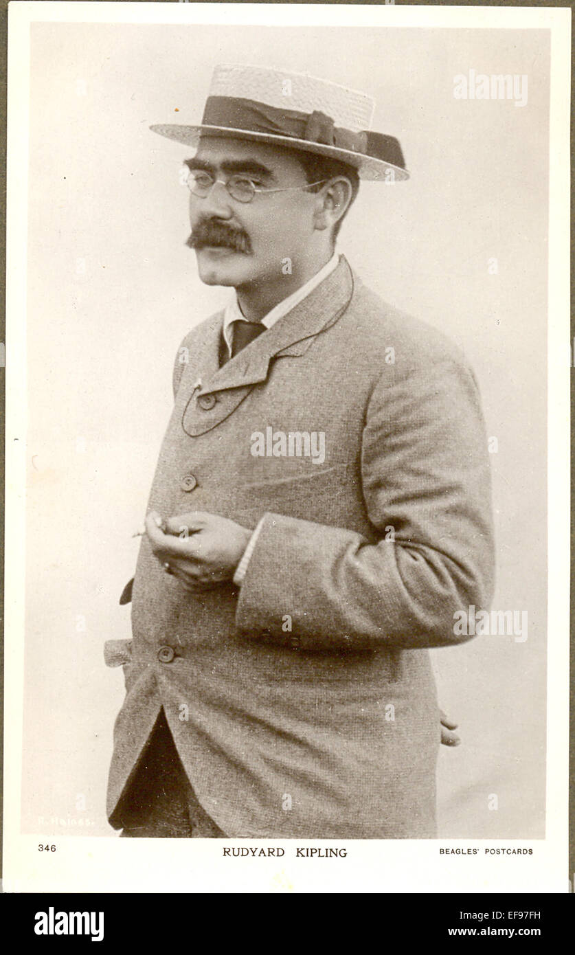 Cartolina di ritratto di Rudyard Kipling Foto Stock