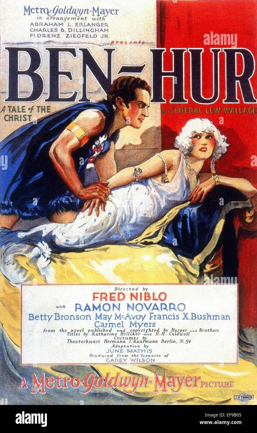 Ben Hur un racconto del Cristo - 1959 - Poster del filmato Immagini Stock