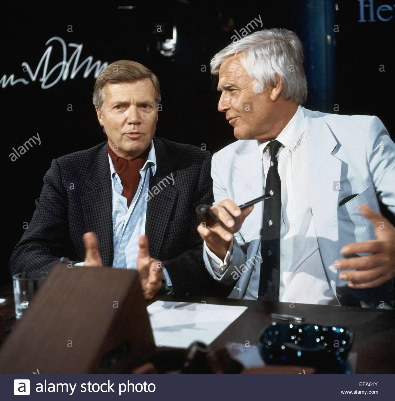 KARLHEINZ BÖHM & JOACHIM FUCHSBERGER attore (1983) Immagini Stock