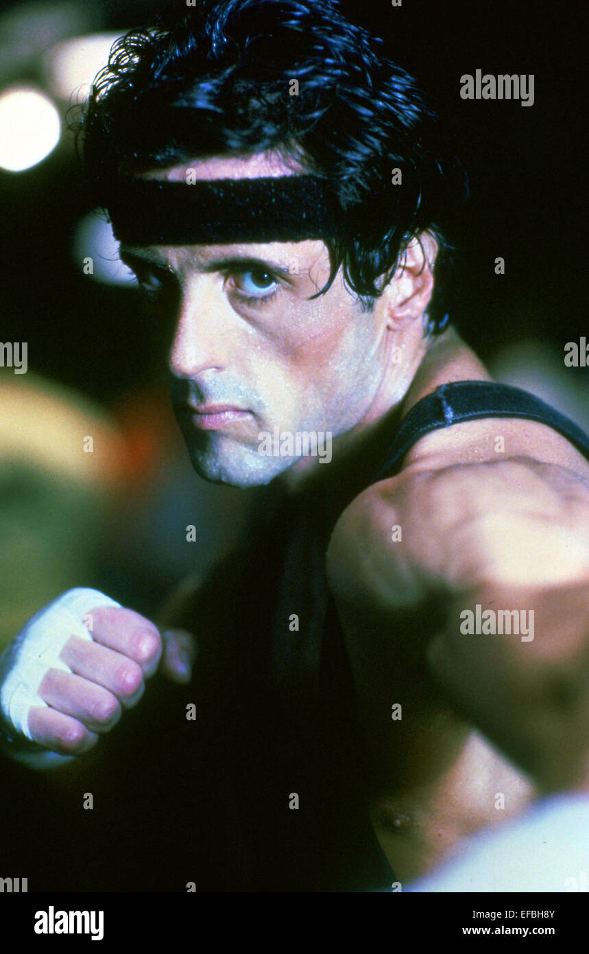 SYLVESTER STALLONE ROCKY III (1982) Immagini Stock