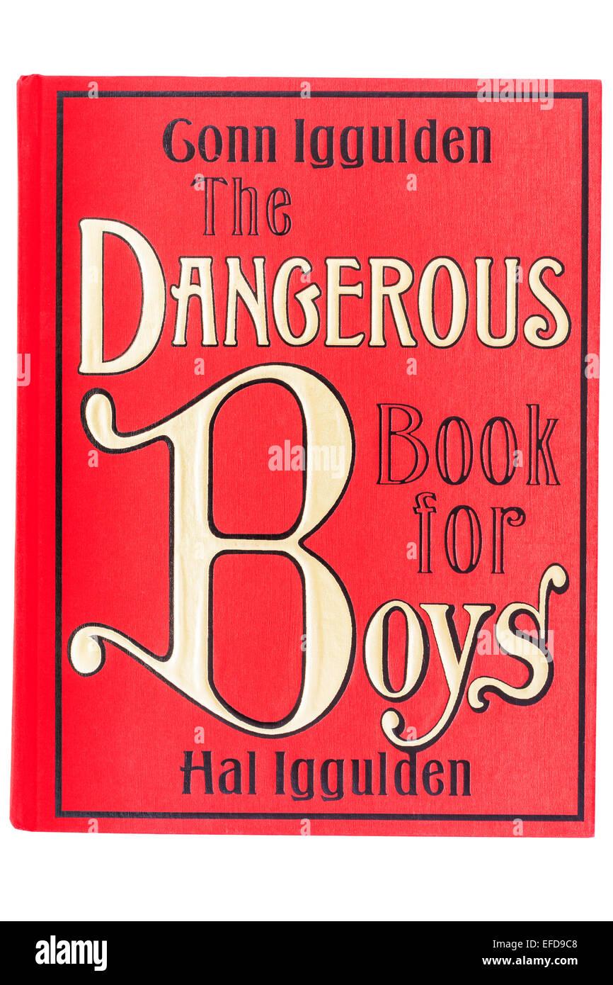 Il libro chiamato il pericoloso Libro per Ragazzi su sfondo bianco Immagini Stock