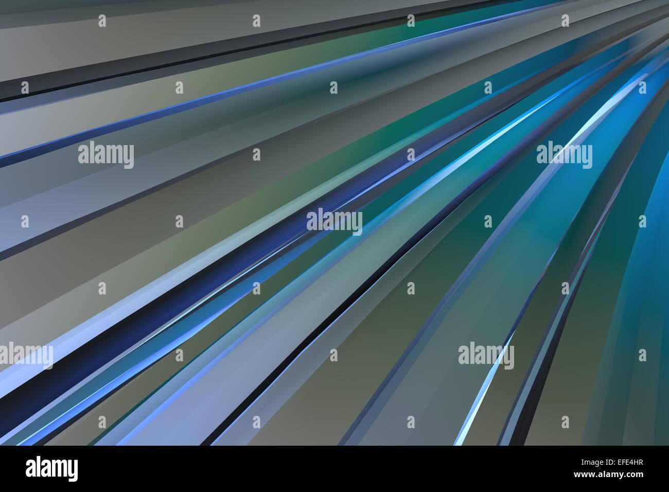 Linee astratte 3d sfondo generato Immagini Stock