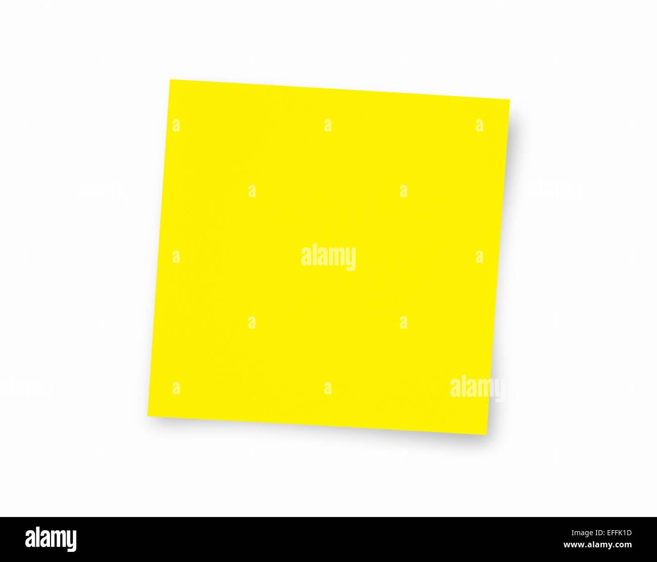 Bigliettino giallo con spazio di copia Immagini Stock