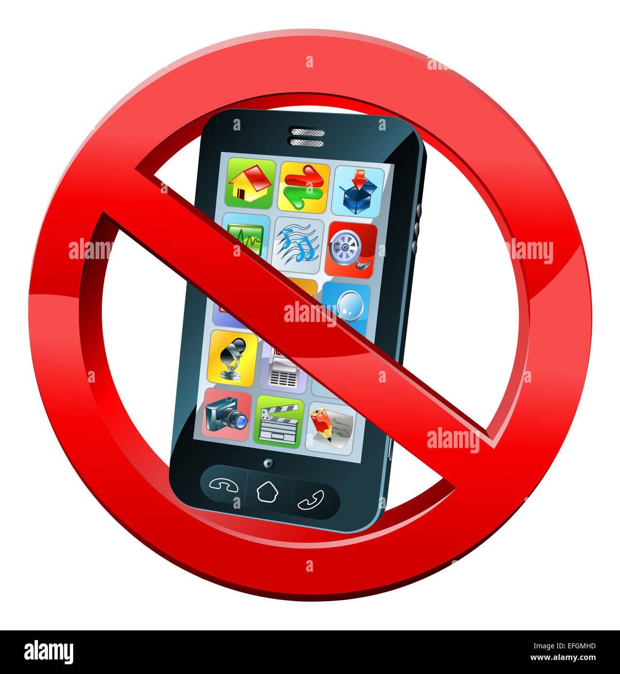 Un N Telefono Cellulare O Si Prega Di Spegnere I Telefoni Segno Con