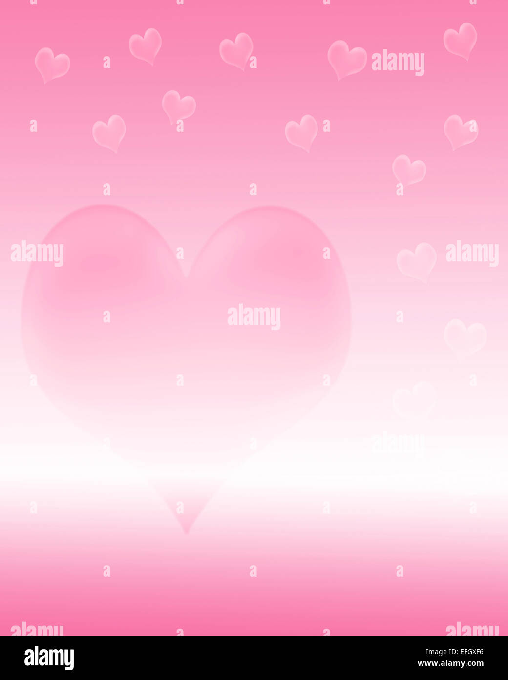 Hearts Illustration White Background Immagini Hearts Illustration
