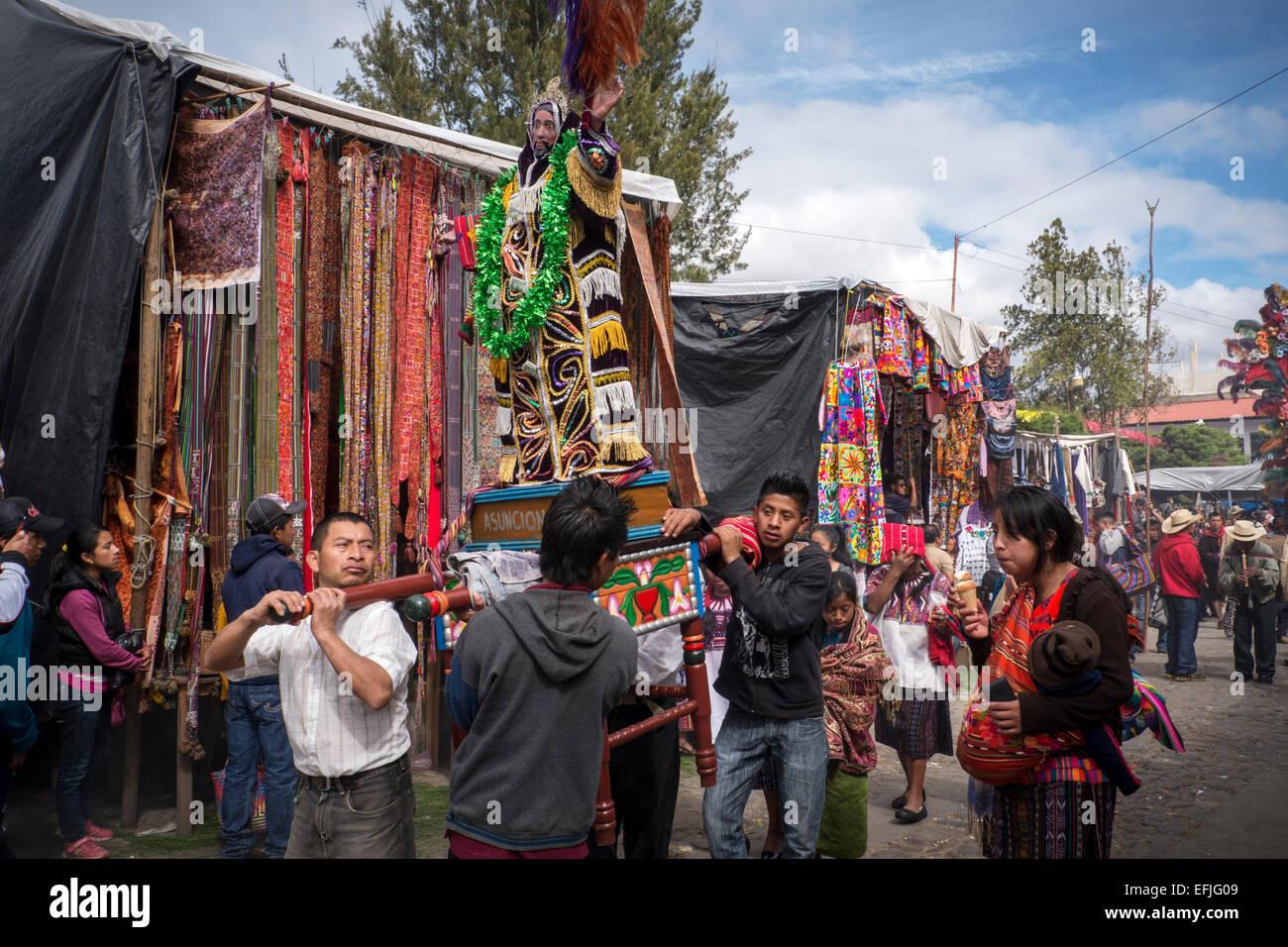 Celebrazione della Fiesta de Santo Tomas a Chichicastenango, Guatemala Immagini Stock