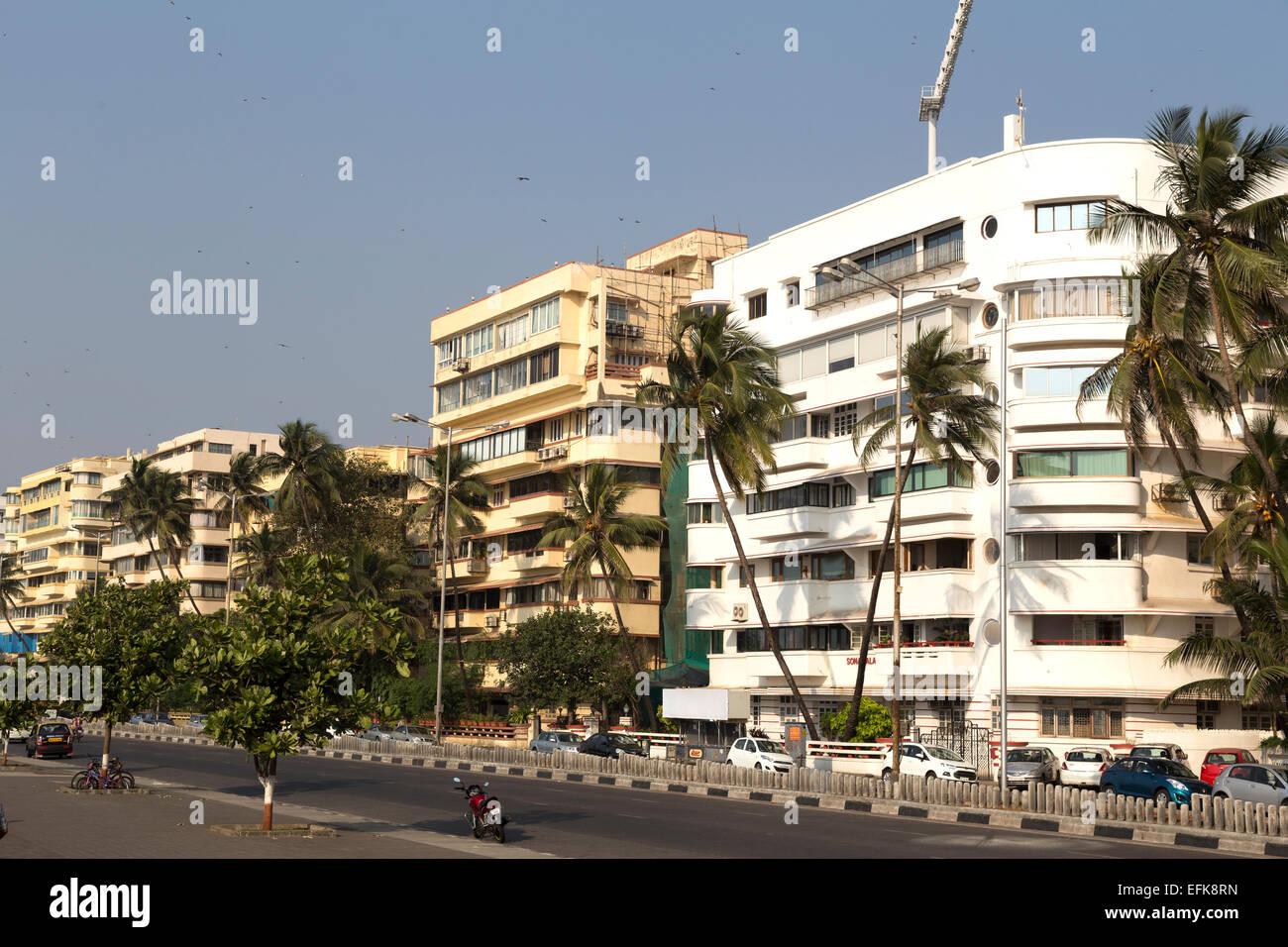 India Maharashtra, Mumbai, Marine Drive Immagini Stock