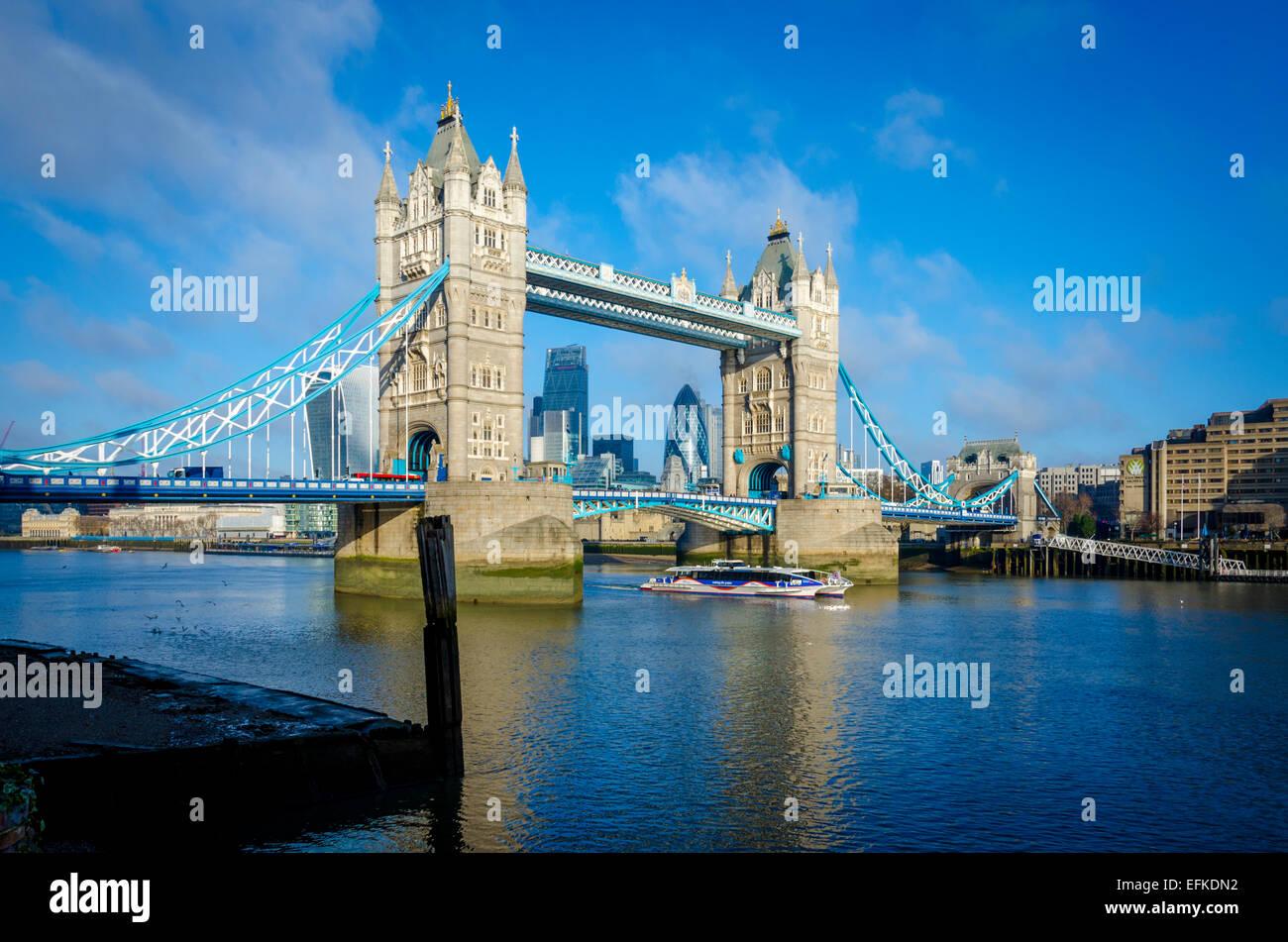Il Tower Bridge di Londra, Regno Unito Immagini Stock