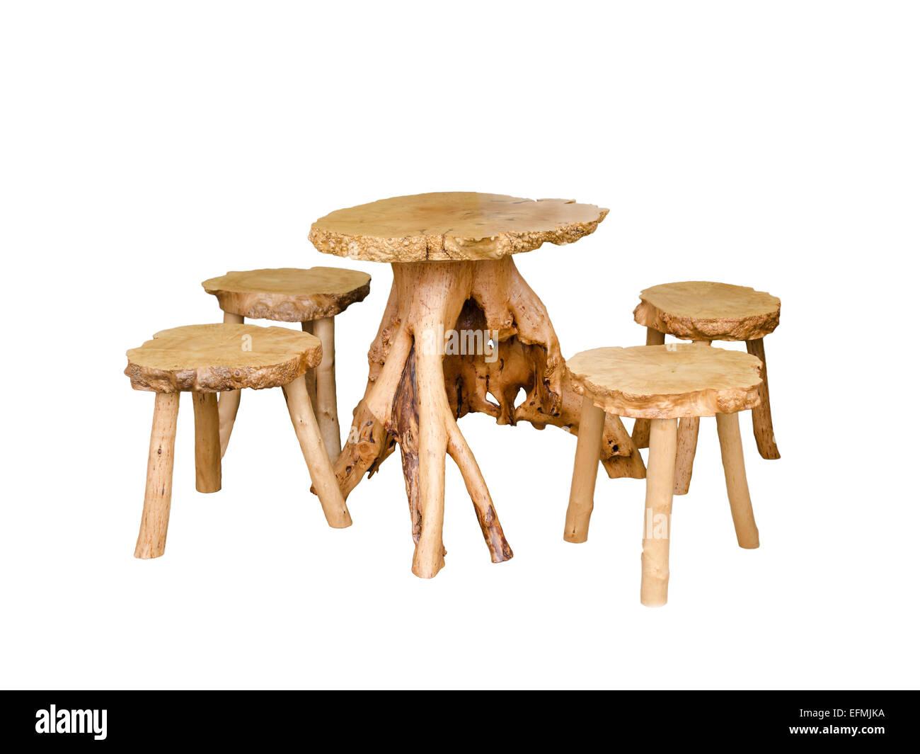 In legno mobili in legno di quercia Immagini Stock