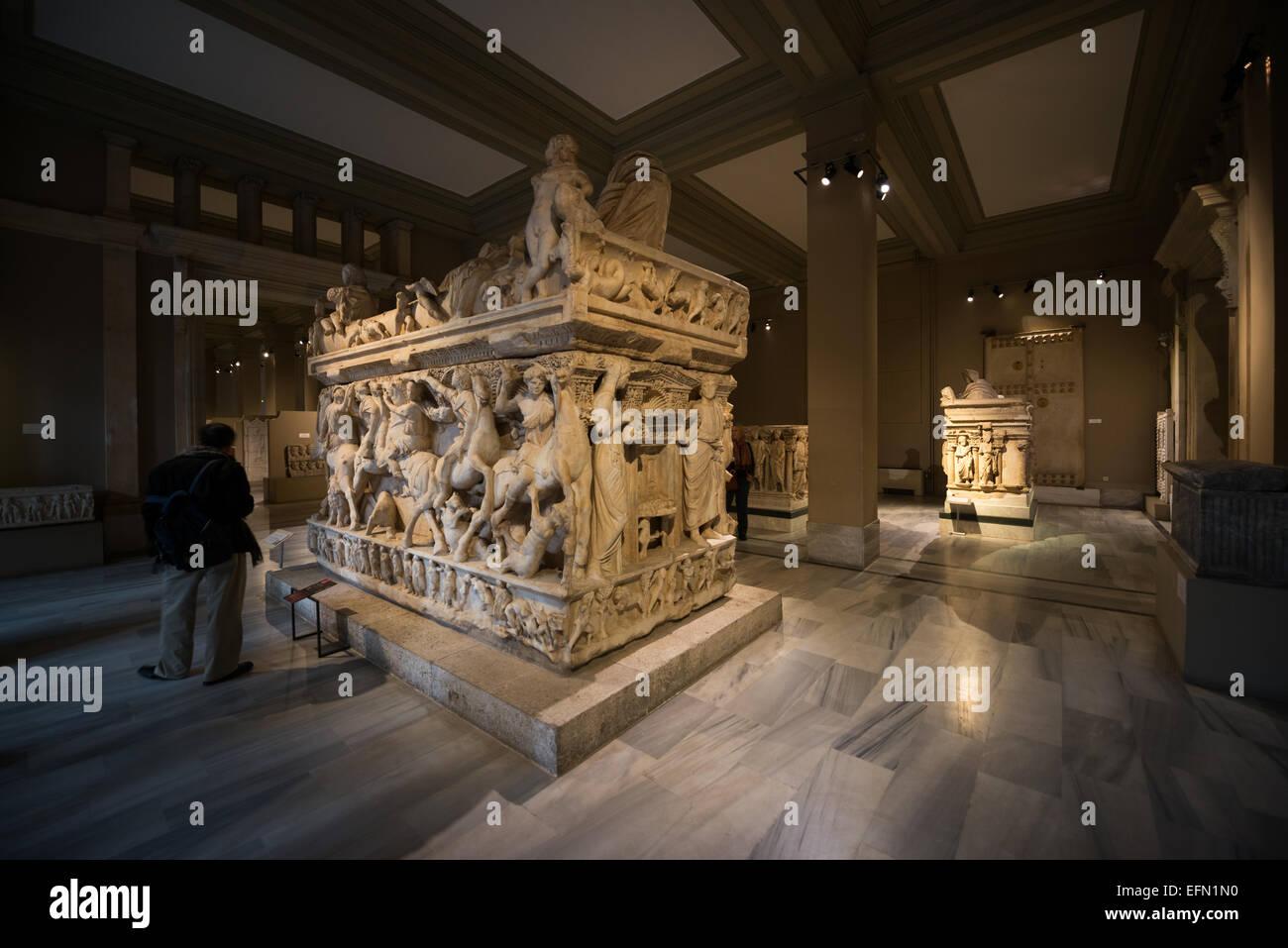 L'Istanbul archeologia musei, alloggiati in tre edifici in quello che era originariamente i giardini del Palazzo Immagini Stock