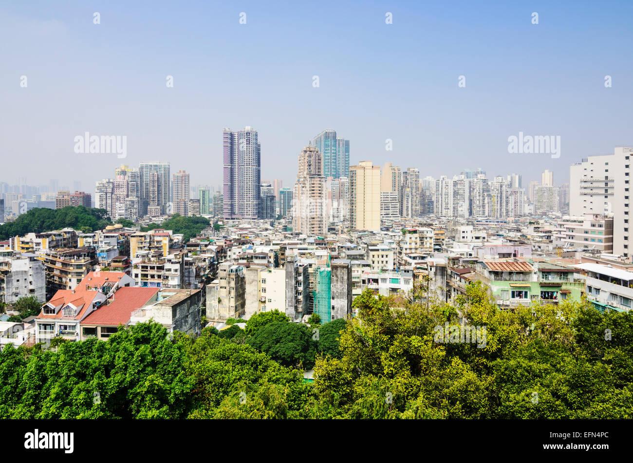 Skyline di Macau, Cina Immagini Stock