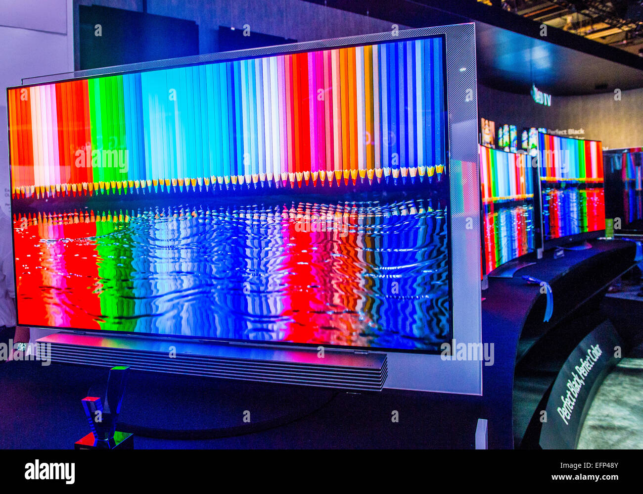 La LG stand al CES show tenutosi a Las Vegas Foto Stock
