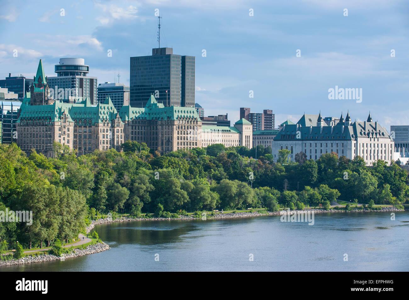 Vista su Ottawa dal punto di Nepean, Ottawa, Ontario, Canada, America del Nord Immagini Stock