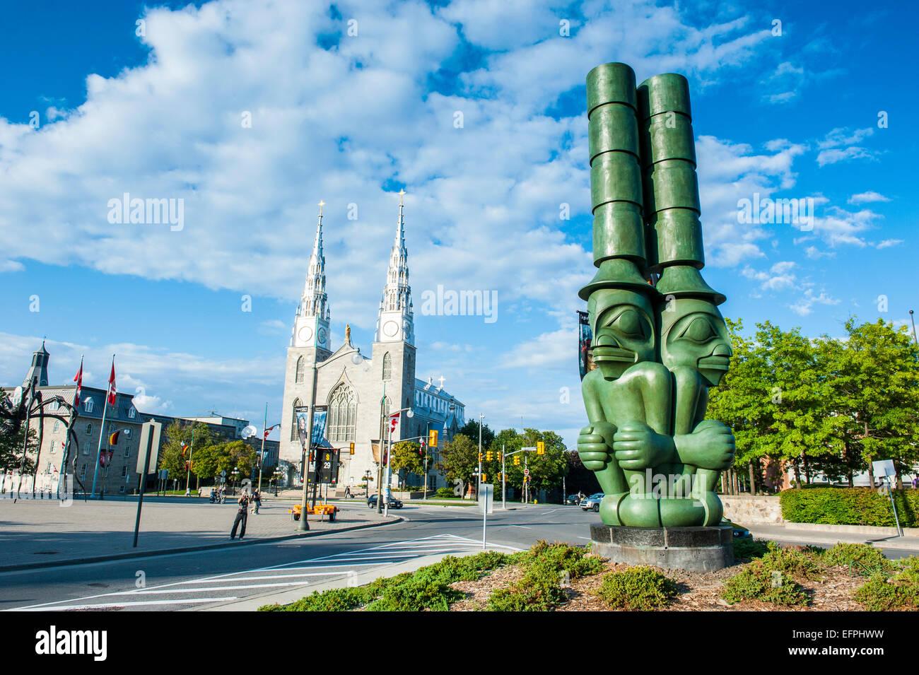Moderna statua, Ottawa, Ontario, Canada, America del Nord Immagini Stock