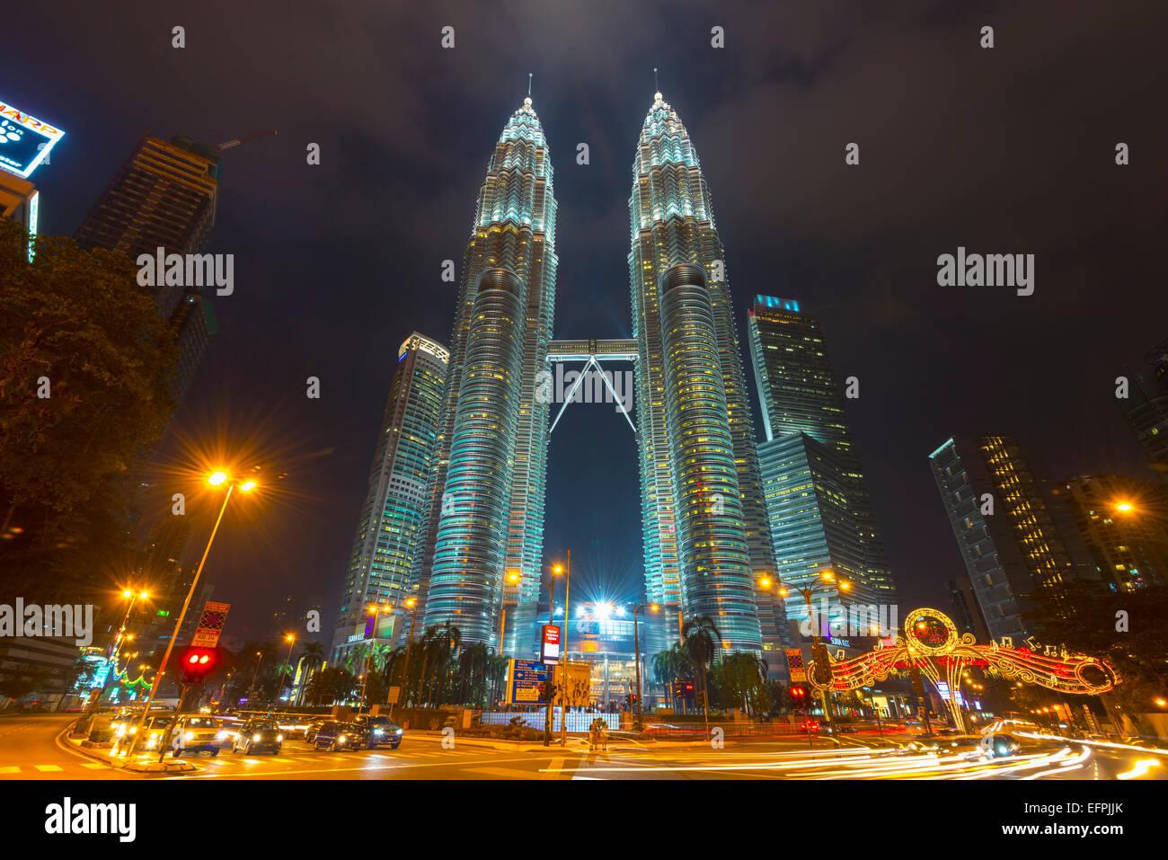 Torri Petronas, Kuala Lumpur, Malesia, Asia sud-orientale, Asia Immagini Stock