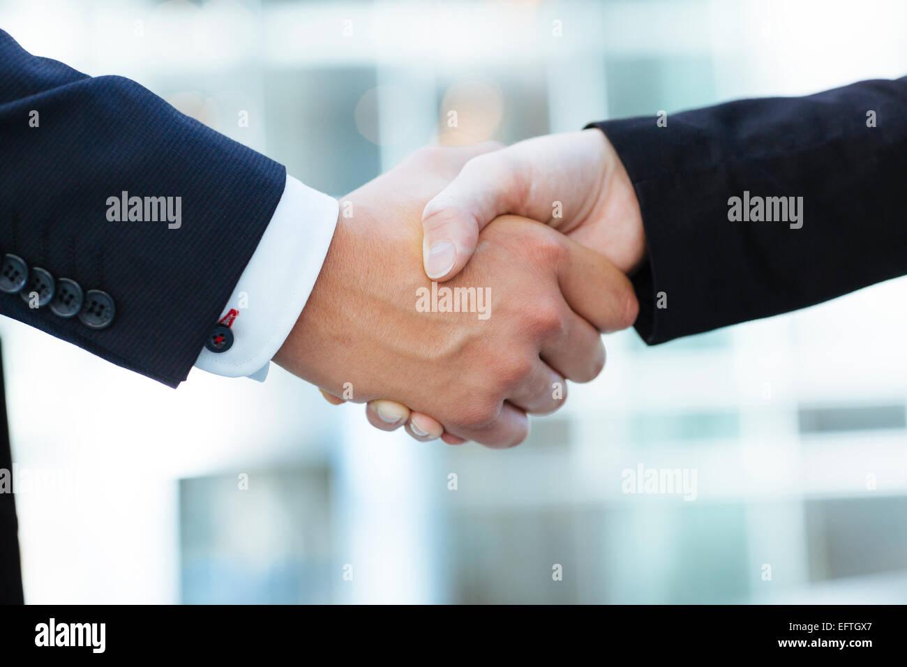 La gente di affari sale riunioni Foto Stock