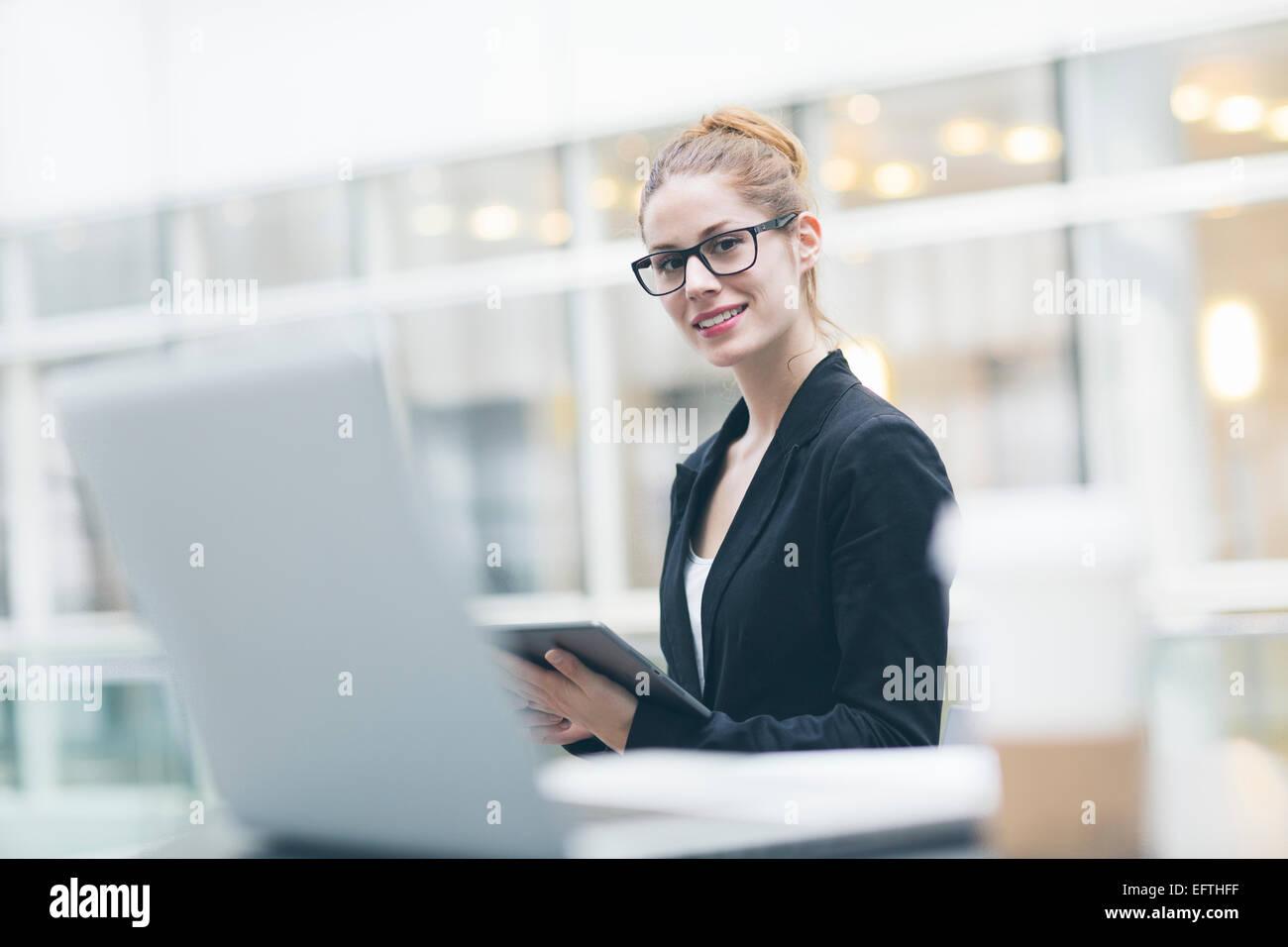 Ritratto di imprenditrice Immagini Stock