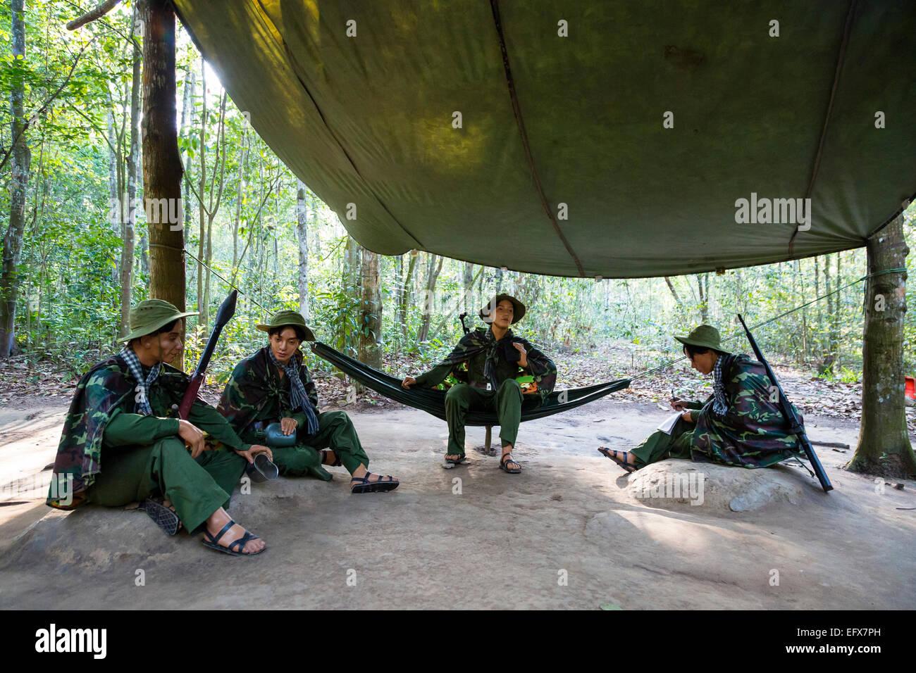I Tunnel di Cu Chi vicino la città di Ho Chi Minh (Saigon), Vietnam. Immagini Stock