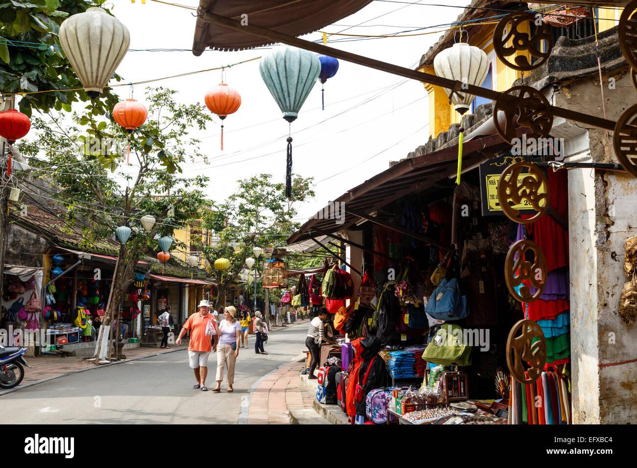 Scena di strada, Hoi An, Vietnam. Immagini Stock