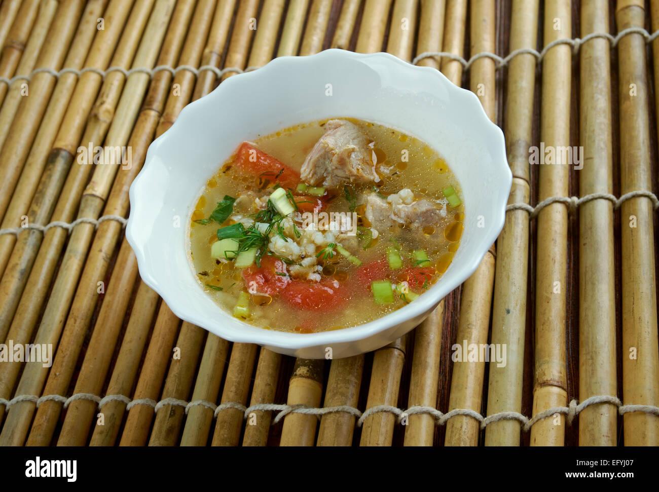Riso bollito di maiale o poltiglia di stile tailandese Immagini Stock