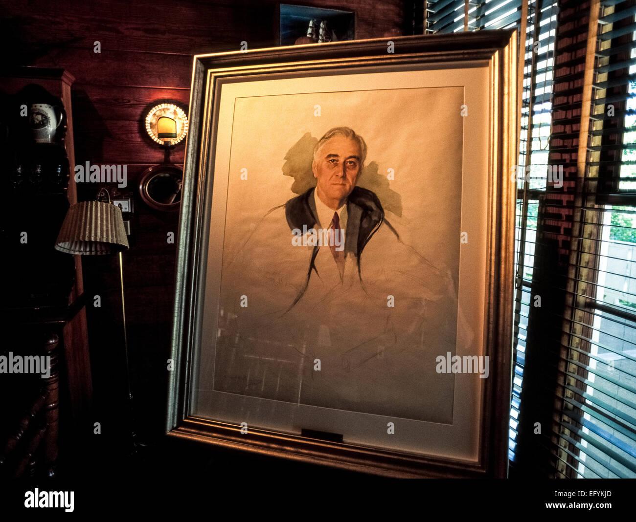 Un ritratto ad acquerello di u s il presidente franklin for Il tuo account e stato attaccato