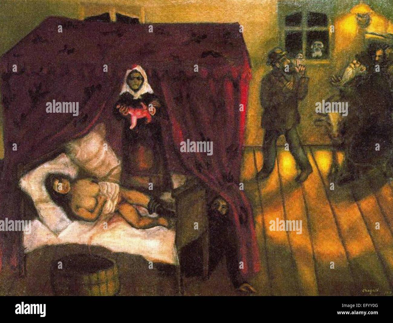 Marc Chagall la nascita Immagini Stock