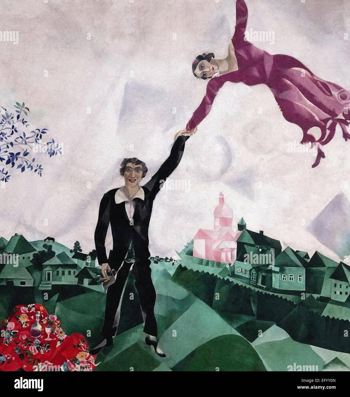 Marc Chagall la Promenade Immagini Stock