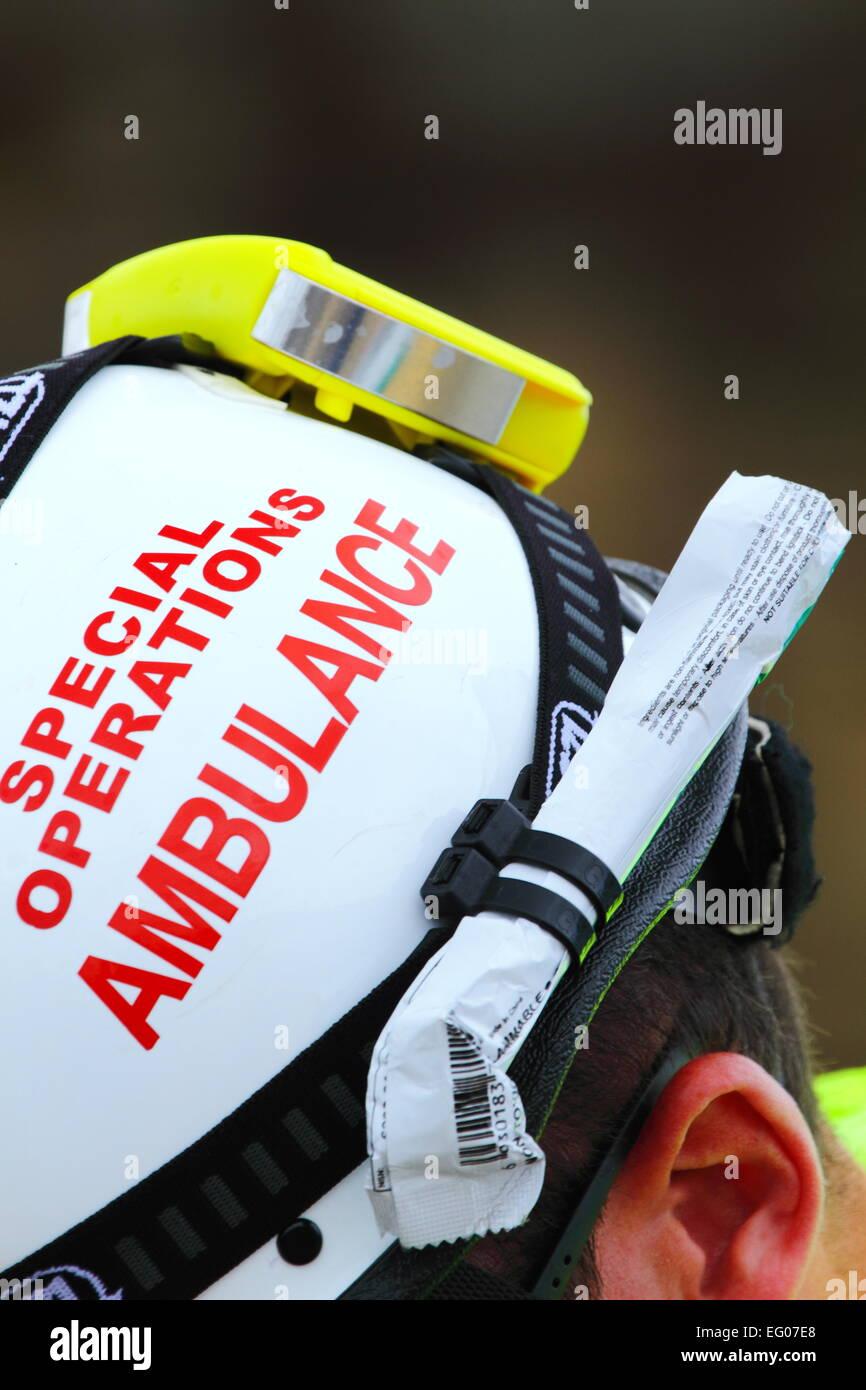 Un membro del servizio ambulanza del NSW Special Operations team - Sydney, Australia. Immagini Stock