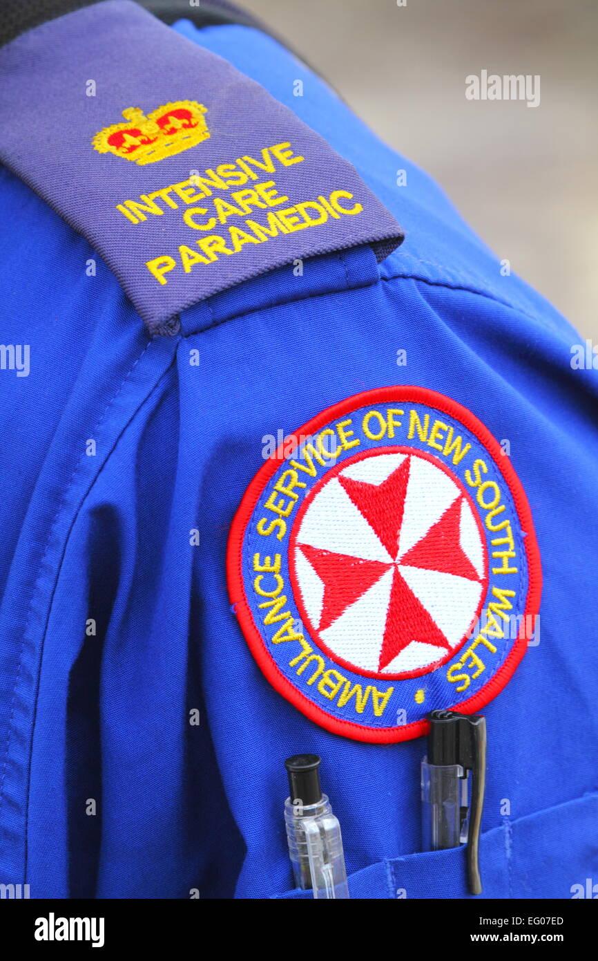 Un intensive care paramedic entro il servizio ambulanza del NSW Special Operations team - Sydney, Australia. Foto Stock