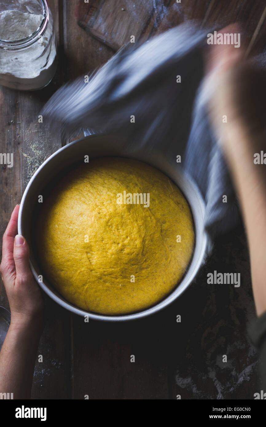 Zucca di pasta di pane Immagini Stock