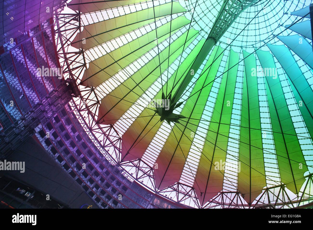 Il Sony Center di Berlino Germania Immagini Stock