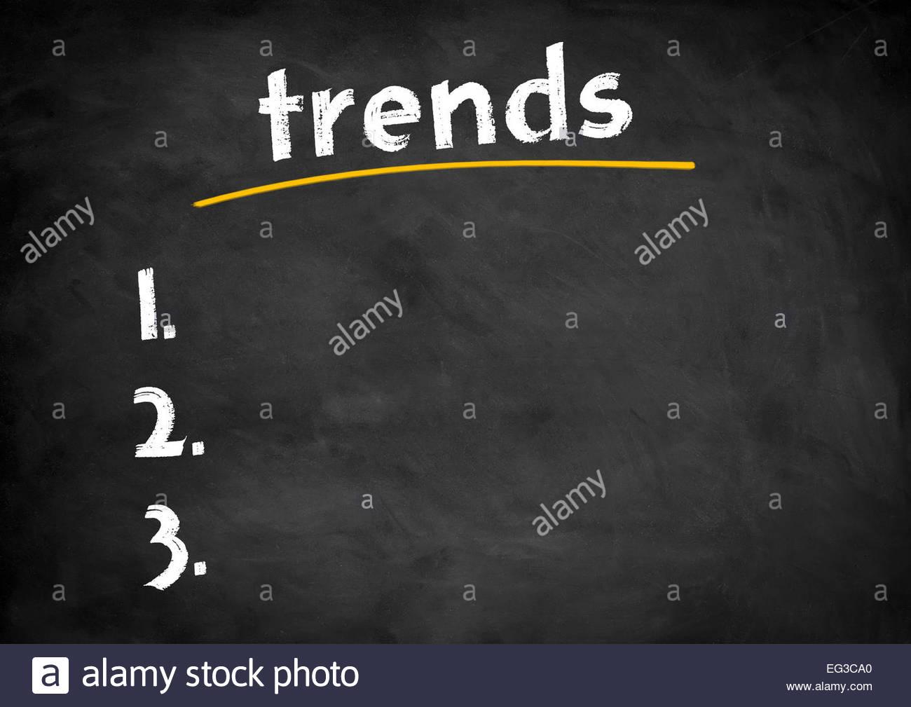 Trend concetto della lavagna Immagini Stock