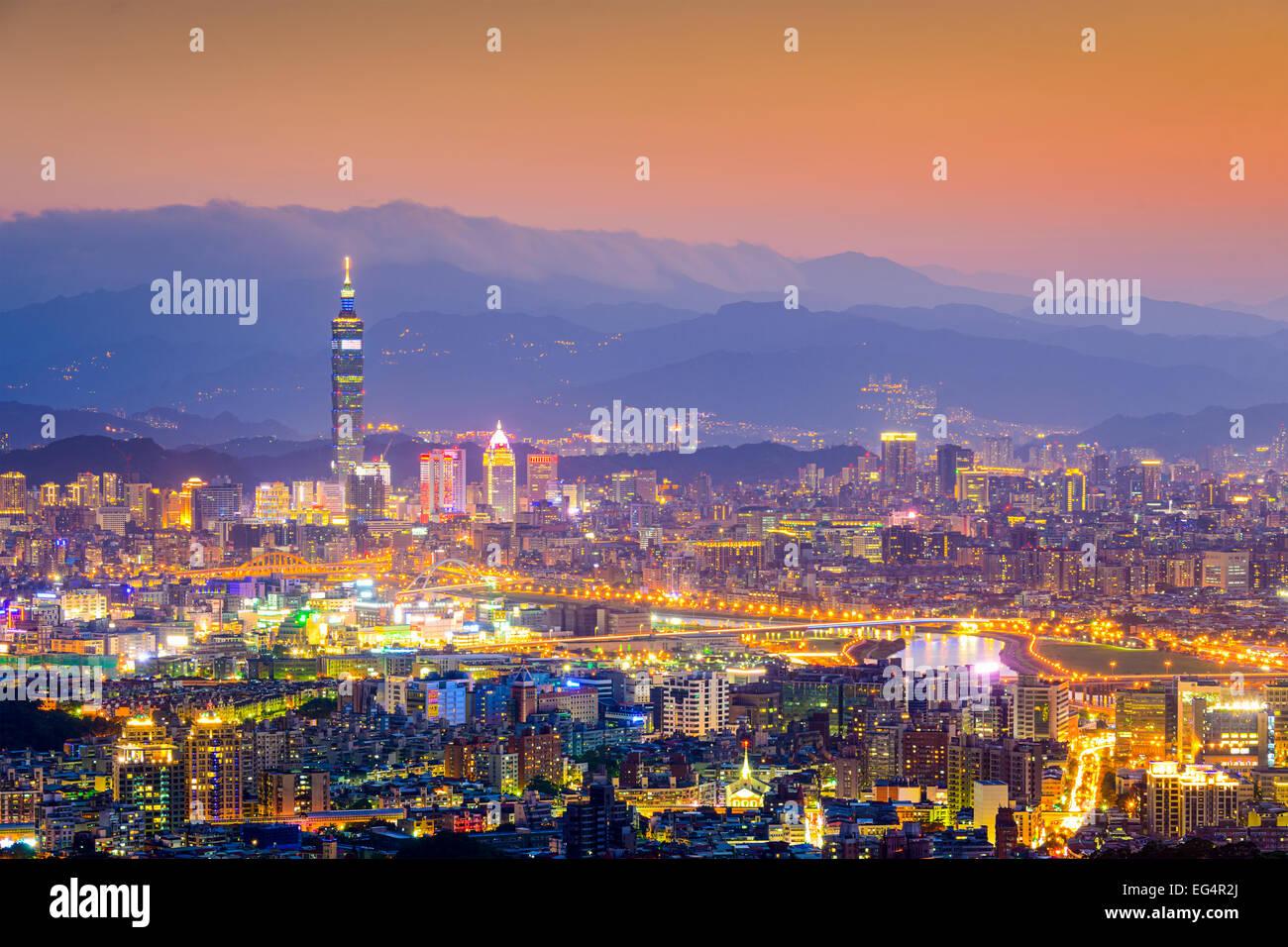 Taipei, Taiwan Cityscape da Neihu District. Immagini Stock