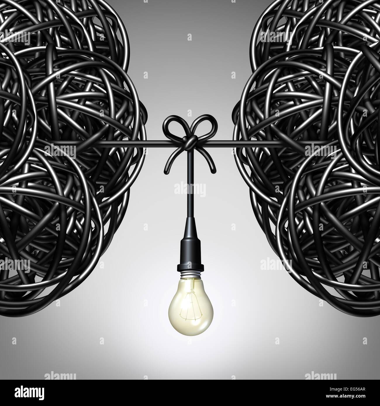 Le idee del team e il concetto di collaborazione di due gruppi di aggrovigliarsi cavo elettrico o il filo con una Immagini Stock