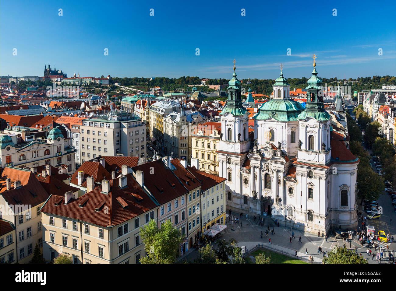 La Chiesa di San Nicola, la Città Vecchia di Praga Immagini Stock