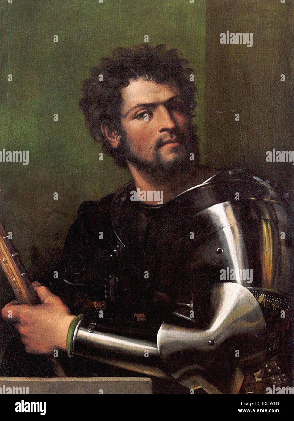 Sebastiano del Piombo Ritratto di un uomo in armatura Immagini Stock