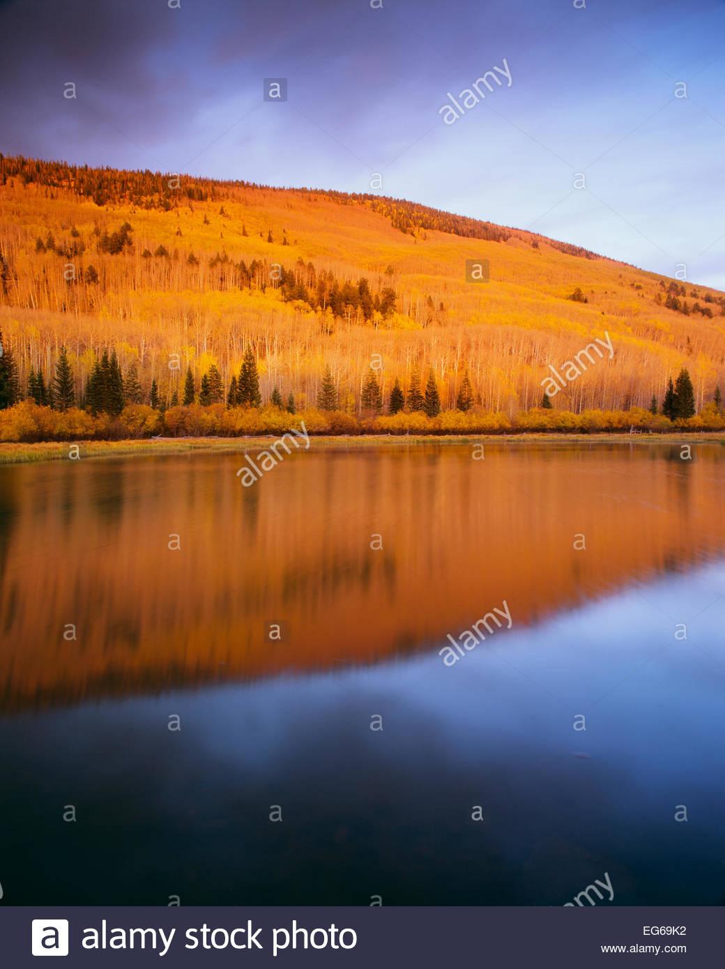Warner Lago, La Sal Mountains. Manti La Sal National Forest, Utah. Immagini Stock