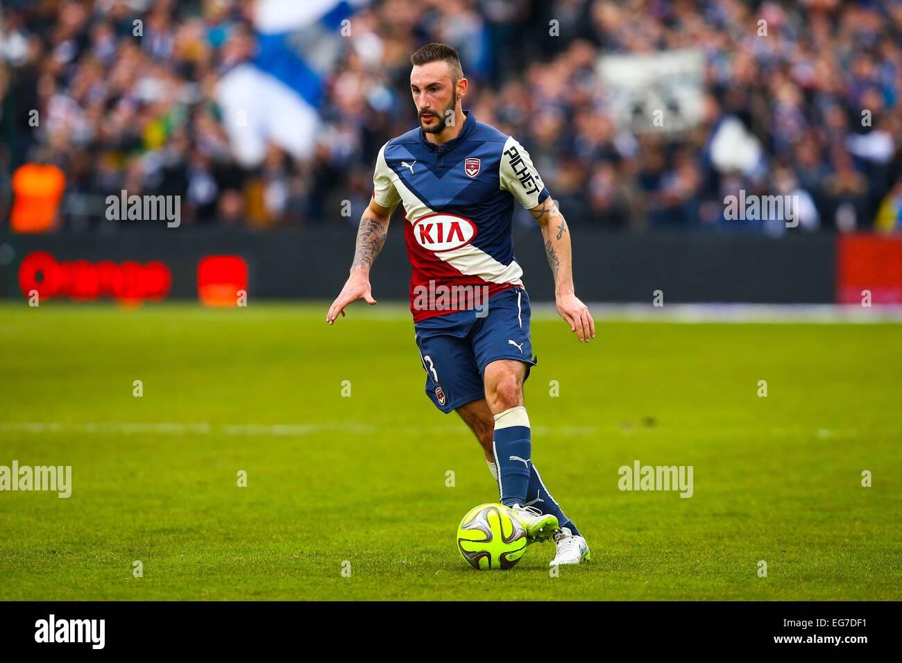 Diego contento - 15.02.2015 - Bordeaux/Saint Etienne - 25eme journee de Ligue 1.Photo : Manuel Blondau/Icona Sport Immagini Stock
