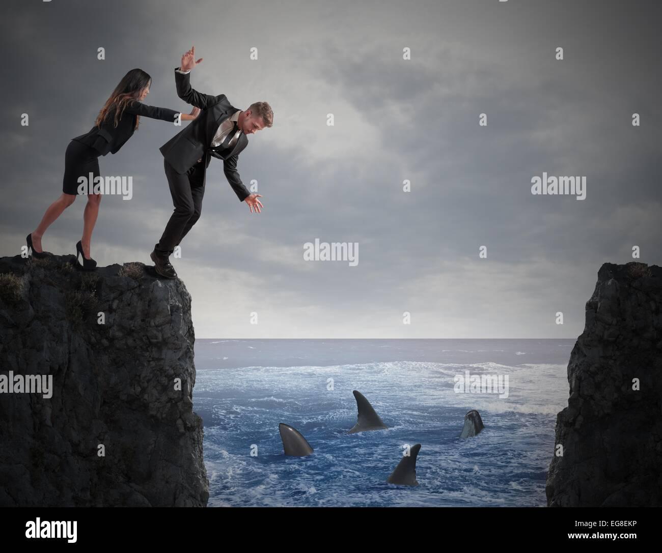 La rivalità tra colleghi Immagini Stock