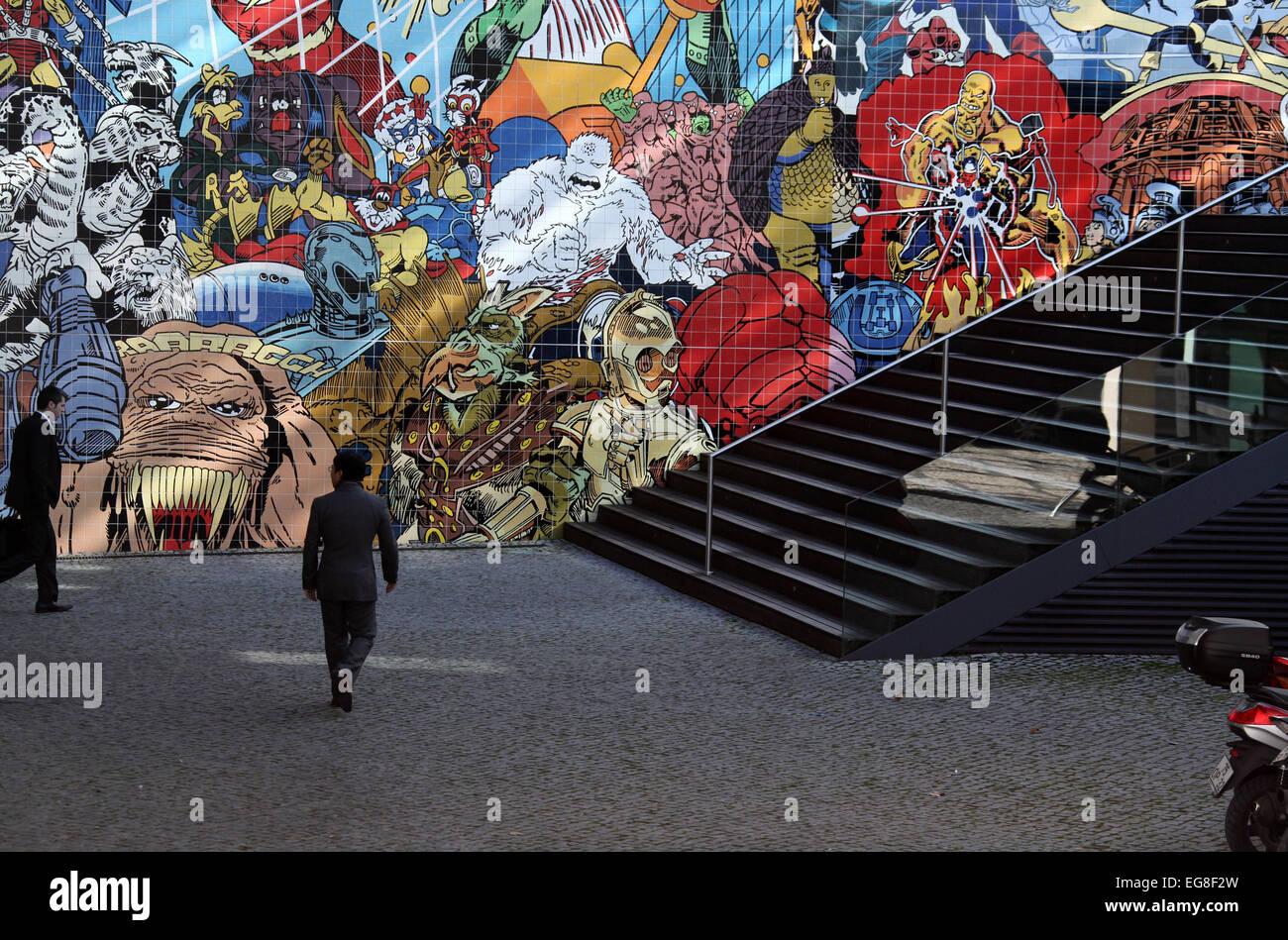 Pop art americana ispirato murale in piastrelle da erro in oriente