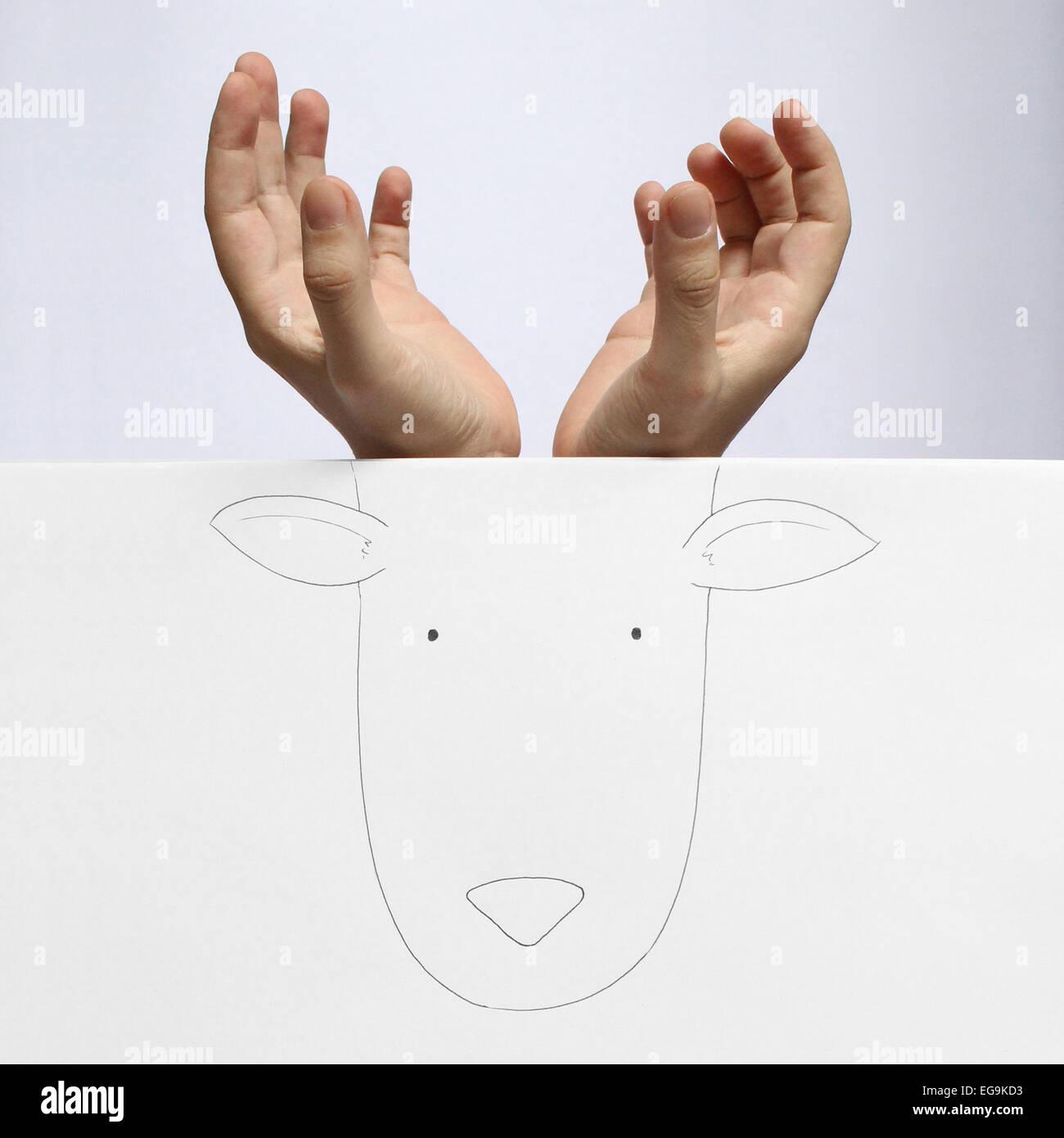 Immagine concettuale di cervo Immagini Stock