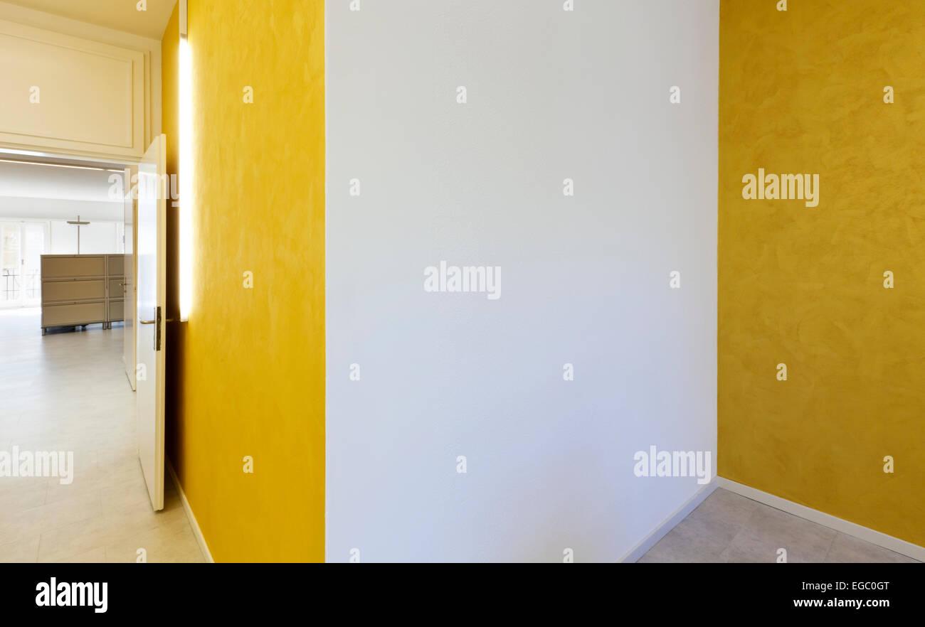 Ufficio Moderno Design Di Interni Pareti Di Colore Giallo Foto