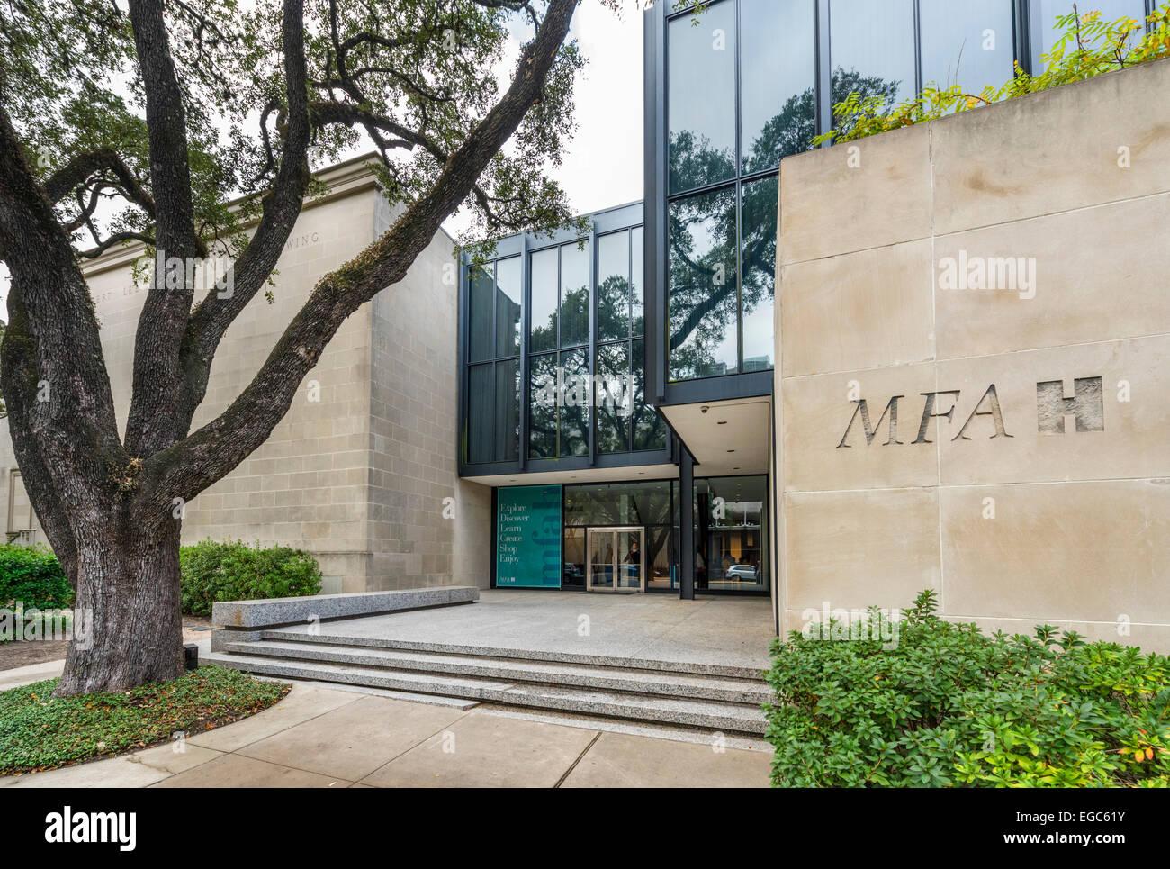 La Caroline Wiess legge la costruzione presso il Museo delle Belle Arti, Main Street, il quartiere dei musei, Houston, Immagini Stock